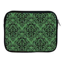 Damask1 Black Marble & Green Denim Apple Ipad 2/3/4 Zipper Cases by trendistuff