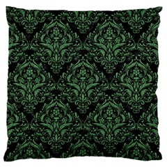 Damask1 Black Marble & Green Denim (r) Standard Flano Cushion Case (two Sides)