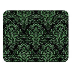 Damask1 Black Marble & Green Denim (r) Double Sided Flano Blanket (large)  by trendistuff