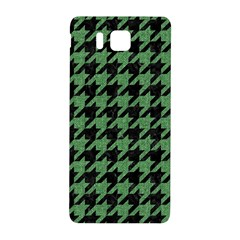 Houndstooth1 Black Marble & Green Denim Samsung Galaxy Alpha Hardshell Back Case by trendistuff