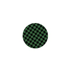 Houndstooth2 Black Marble & Green Denim 1  Mini Buttons by trendistuff