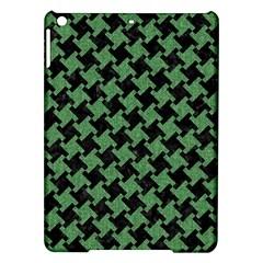 Houndstooth2 Black Marble & Green Denim Ipad Air Hardshell Cases