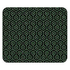 Hexagon1 Black Marble & Green Denim (r) Double Sided Flano Blanket (small)  by trendistuff