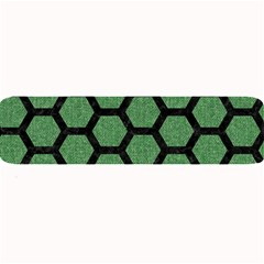 Hexagon2 Black Marble & Green Denim Large Bar Mats by trendistuff