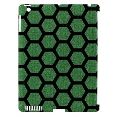 Hexagon2 Black Marble & Green Denim Apple Ipad 3/4 Hardshell Case (compatible With Smart Cover) by trendistuff