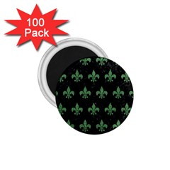 Royal1 Black Marble & Green Denim 1 75  Magnets (100 Pack)  by trendistuff