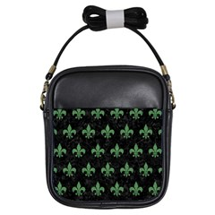 Royal1 Black Marble & Green Denim Girls Sling Bags by trendistuff