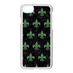 Royal1 Black Marble & Green Denim Apple Iphone 8 Seamless Case (white)