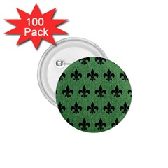 Royal1 Black Marble & Green Denim (r) 1 75  Buttons (100 Pack)  by trendistuff