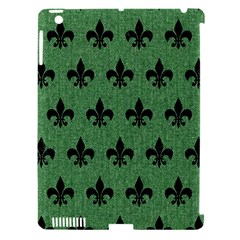 Royal1 Black Marble & Green Denim (r) Apple Ipad 3/4 Hardshell Case (compatible With Smart Cover) by trendistuff
