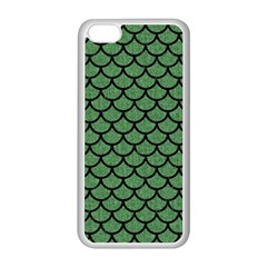 Scales1 Black Marble & Green Denim Apple Iphone 5c Seamless Case (white) by trendistuff