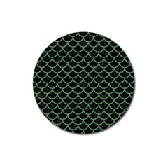Scales1 Black Marble & Green Denim (r) Magnet 3  (round) by trendistuff