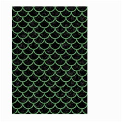 Scales1 Black Marble & Green Denim (r) Large Garden Flag (two Sides) by trendistuff