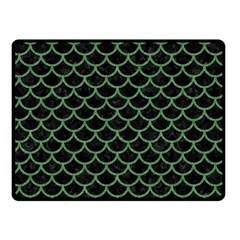 Scales1 Black Marble & Green Denim (r) Double Sided Fleece Blanket (small)  by trendistuff