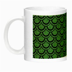 Scales2 Black Marble & Green Denim Night Luminous Mugs by trendistuff