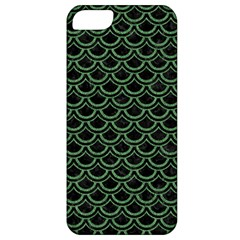 Scales2 Black Marble & Green Denim (r) Apple Iphone 5 Classic Hardshell Case by trendistuff