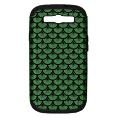 Scales3 Black Marble & Green Denim Samsung Galaxy S Iii Hardshell Case (pc+silicone) by trendistuff