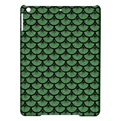 Scales3 Black Marble & Green Denim Ipad Air Hardshell Cases