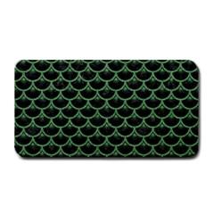 Scales3 Black Marble & Green Denim (r) Medium Bar Mats by trendistuff