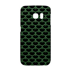 Scales3 Black Marble & Green Denim (r) Galaxy S6 Edge by trendistuff