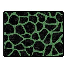 Skin1 Black Marble & Green Denim Fleece Blanket (small)