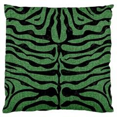 Skin2 Black Marble & Green Denim Large Cushion Case (two Sides) by trendistuff