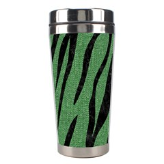 Skin3 Black Marble & Green Denim Stainless Steel Travel Tumblers by trendistuff