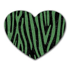 Skin4 Black Marble & Green Denim Heart Mousepads by trendistuff