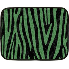 Skin4 Black Marble & Green Denim Fleece Blanket (mini) by trendistuff
