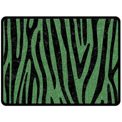Skin4 Black Marble & Green Denim (r) Fleece Blanket (large)  by trendistuff