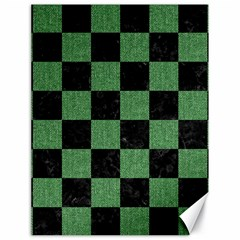 Square1 Black Marble & Green Denim Canvas 18  X 24   by trendistuff