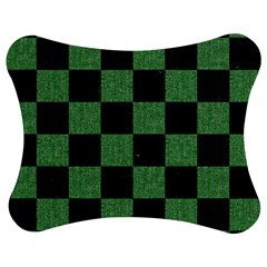 Square1 Black Marble & Green Denim Jigsaw Puzzle Photo Stand (bow) by trendistuff