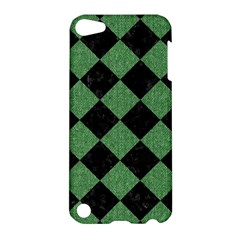 Square2 Black Marble & Green Denim Apple Ipod Touch 5 Hardshell Case by trendistuff
