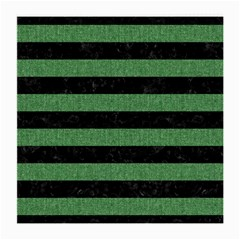 Stripes2 Black Marble & Green Denim Medium Glasses Cloth (2 Side) by trendistuff