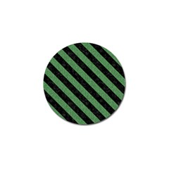 Stripes3 Black Marble & Green Denim Golf Ball Marker by trendistuff