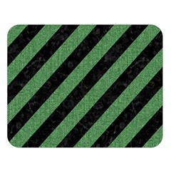 Stripes3 Black Marble & Green Denim (r) Double Sided Flano Blanket (large)  by trendistuff