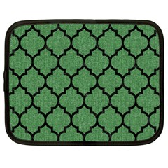 Tile1 Black Marble & Green Denim Netbook Case (xl)  by trendistuff