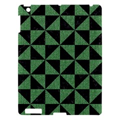 Triangle1 Black Marble & Green Denim Apple Ipad 3/4 Hardshell Case by trendistuff