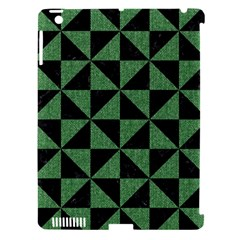 Triangle1 Black Marble & Green Denim Apple Ipad 3/4 Hardshell Case (compatible With Smart Cover) by trendistuff