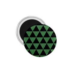 Triangle3 Black Marble & Green Denim 1 75  Magnets by trendistuff