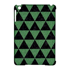 Triangle3 Black Marble & Green Denim Apple Ipad Mini Hardshell Case (compatible With Smart Cover) by trendistuff