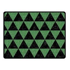 Triangle3 Black Marble & Green Denim Double Sided Fleece Blanket (small)  by trendistuff