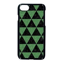 Triangle3 Black Marble & Green Denim Apple Iphone 8 Seamless Case (black) by trendistuff