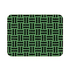 Woven1 Black Marble & Green Denim Double Sided Flano Blanket (mini)  by trendistuff