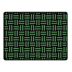 Woven1 Black Marble & Green Denim (r) Double Sided Fleece Blanket (small)  by trendistuff