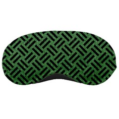Woven2 Black Marble & Green Denim Sleeping Masks by trendistuff