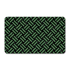 Woven2 Black Marble & Green Denim (r) Magnet (rectangular) by trendistuff