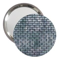 Brick1 Black Marble & Ice Crystals 3  Handbag Mirrors by trendistuff