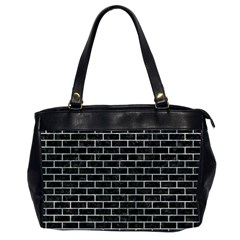 Brick1 Black Marble & Ice Crystals (r) Office Handbags (2 Sides)  by trendistuff