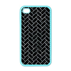 Brick2 Black Marble & Ice Crystals (r) Apple Iphone 4 Case (color) by trendistuff
